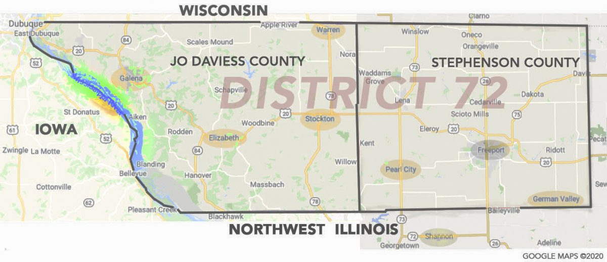Map of District 72